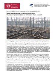 Aufbau und Visualisierung eines dynamischen Eisenbahn ... - VSLF