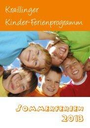 Kinder-Ferienprogramm 2013