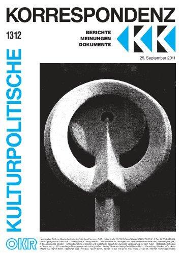 Ausgabe 1312 als PDF zum Download - Kulturportal West Ost