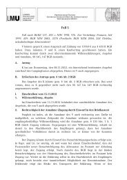 Lösungsskizze zu Fall 5 - Prof. Dr. Stephan Lorenz