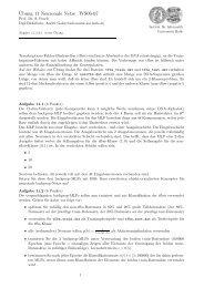 Übungsblatt 11 - Institut für Informatik