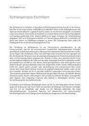 STS-Zoobericht 2012, Schlangenzoo Eschlikon - Schweizer ...