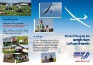 Modellfliegen im Bergischen Luftsportverein - Bergischer ...