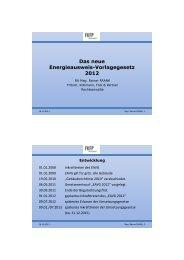 Das neue Energieausweis-Vorlagegesetz 2012