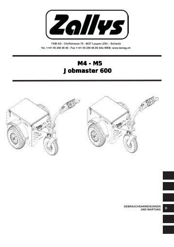 M4 - M5 Jobmaster 600 M4 - M5 Jobmaster 600 M4 - M5 ... - Tam AG