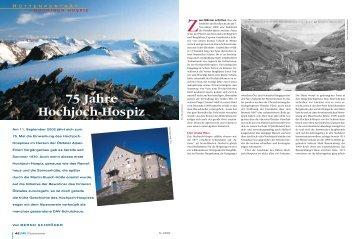 75 Jahre Hochjoch-Hospiz - Deutscher Alpenverein