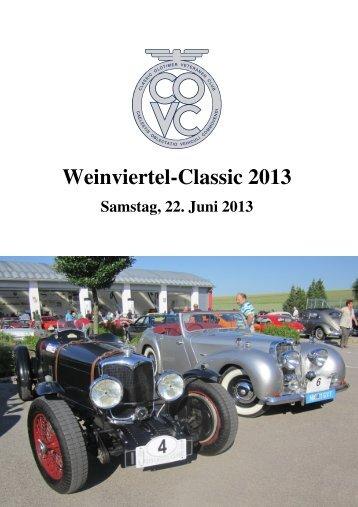Weinviertel-Classic 2013 - Classic Oldtimer Veteranen Club