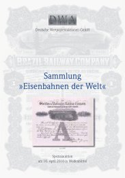 Sammlung »Eisenbahnen der Welt - Deutschewertpapierauktionen.de