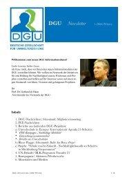 DGU News 1-06 - Deutsche Gesellschaft für Umwelterziehung