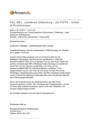 POL-DEL: Landkreis Oldenburg - mit FOTO - Unfall in Kirchkimmen