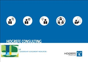 Leadership Judgement Indicator LJI - Hogrefe Consulting