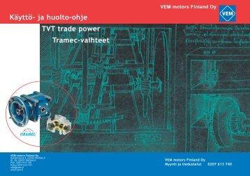 Tramec-käyttöohje - VEM motors Finland Oy