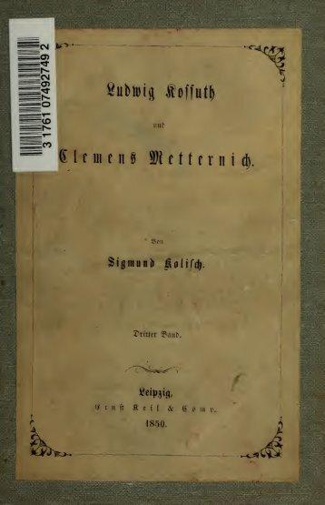 Ludwig Kossuth und Clemens Metternich