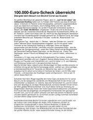 100.000-Euro-Scheck überreicht - Laufmalwieder.de