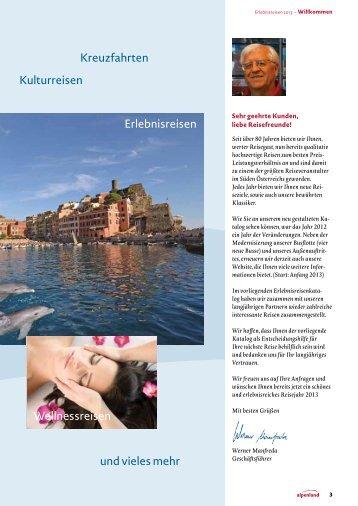 Erlebnisreisen Busreisen Jänner - März 2013 - Reisebüro Alpenland