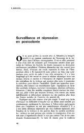 Surveillance et répression en postcolonie - Politique Africaine