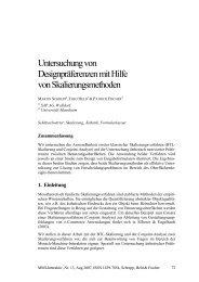 Untersuchung von Designpräferenzen mit Hilfe von ... - MMI-Interaktiv