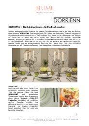 DORRIENN – Tischdekorationen, die Eindruck machen - Blume PR