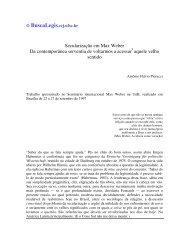 Secularização em Max Weber Da contemporânea ... - eGov UFSC