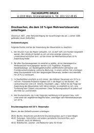 FACHGRUPPE DRUCK A-1010 Wien, Grünangergasse 4, Tel. (01 ...