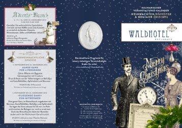 Weihnachten,silvesteR & neujahR 2012/2013 - Waldhotel Rheinbach