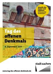 Tag des Denkmals 2013 - Stadt Aachen