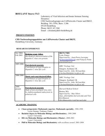 Boulant (PDF / 112.5 KB) - CellNetworks