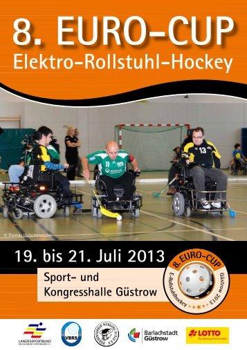 Broschüre 8. Euro-Cup ERH Güstrow 2013 - Verband für Behinderten