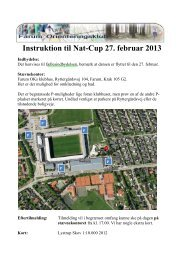 Instruktion til Nat-Cup 27. februar 2013