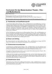 Theater-, Film- und Medientheorie - Senat - Universität Wien