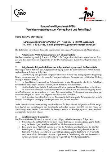 bewerbungsschreiben bundesfreiwilligendienst bfd landesjugendwerk der awo - Bromanagement Bewerbung