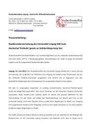 Studierendenvertretung der Universität Leipzig hält trotz Hochschul ...