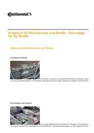 Anspruch für Rennstrecke und Straße - Continental Reifen