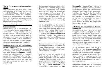 Eingetragene Lebenspartnerschaft - Download als pdf