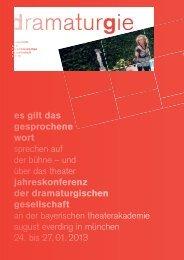 dramaturgie - Dramaturgische Gesellschaft
