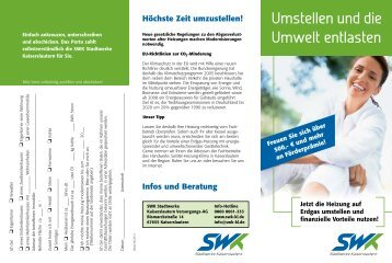 Umstellung auf Erdgas - SWK