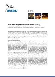 1. NABU-Info (2009): Naturverträgliche Stadtbeleuchtung