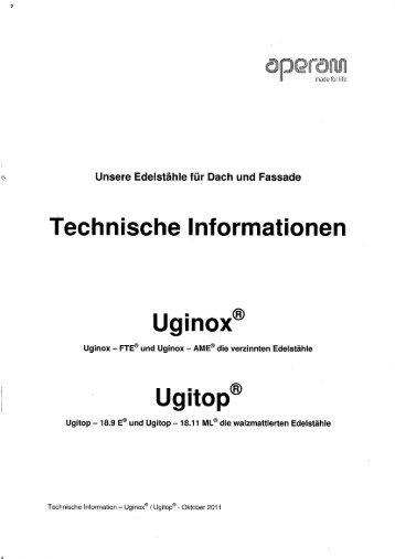 Technische Informationen UGINOX UGITOP - AustroDach
