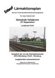 Lärmaktionsplan Veitsbronn - Regierung von Mittelfranken - Bayern
