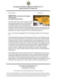 zur Pressemeldung - Landesjagdverband Rheinland-Pfalz