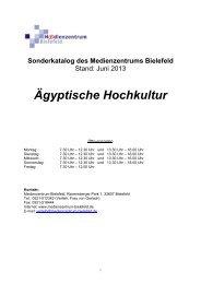 Ägyptische Hochkultur - Medienzentrum Bielefeld