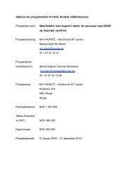 Revidert søknad til NVC juni 09 - Nordens Välfärdscenter