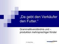 Grammatikverständnis und –produktion mehrsprachiger Kinder