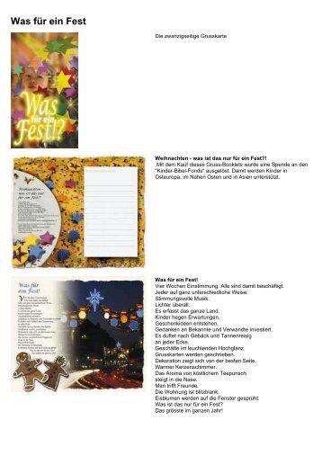 Was für ein Fest» (PDF) - Mosaicstones