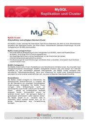 MySQL Replikation und Cluster