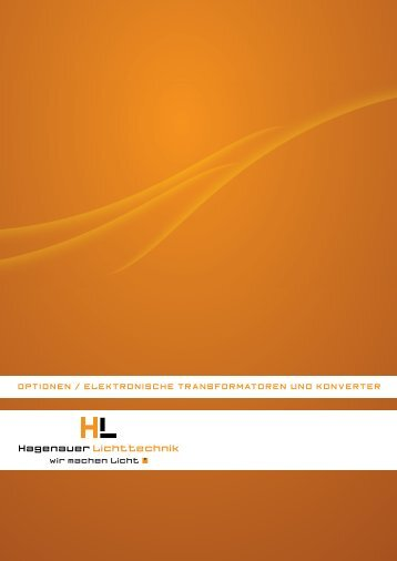 Katalog herunterladen - Hagenauer Lichttechnik