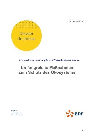 Umfangreiche Maßnahmen zum Schutz des ... - Energie EDF