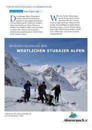Skidurchquerung der Westlichen Stubaier Alpen - Almenrausch
