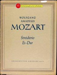 Partitur Wolfgang Amadeus Mozart Streichtrio Es-dur; K-V. 563