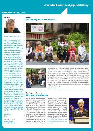 Newsletter-3-2011 - Deutsche Kinder und Jugendstiftung